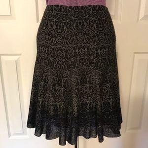 Elie Tahari Wool Flared Skirt